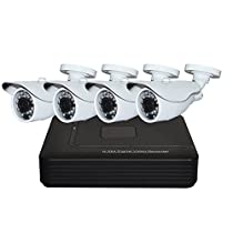 AHD DVR KITS Outdoor 4CH AHD 1.0 Megapixel 720P Cameras P2P CCTV Security Systems EDS-KIT04-720A