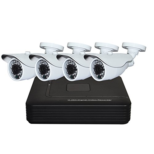 AHD DVR KITS Outdoor 4CH AHD 1.0 Megapixel 720P Cameras P2P CCTV Security Systems EDS-KIT04-720A by ND