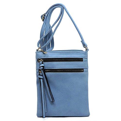 Pocket Periwinkle Bag Crossbody Multi Americana Functional FwEvq0