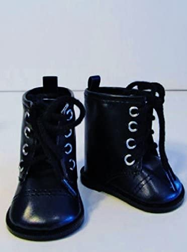 """NEW Black BUTTON BOOTS AMERICAN GIRL DOLL FITS 18/"""" DOLLS"""