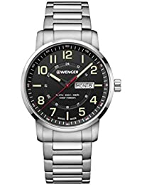 Men's Sport Swiss-Quartz Watch with Stainless-Steel Strap, Silver, 22 (Model: 01.1541.102)