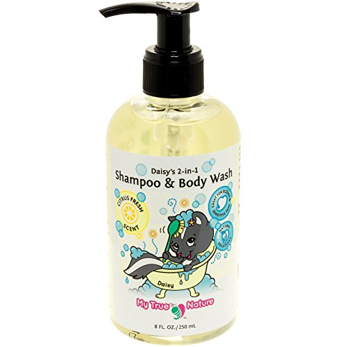 Natural Baby Shampoo Body Wash - Daisys 2-in-1 Shampoo/Body Wash for Sensitive Skin - Citrus by My True Nature