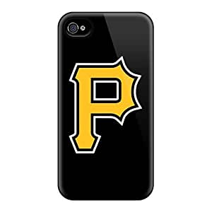 Durable Hard Phone Cases For Iphone 4/4s (Wjw9022Otwc) Custom High-definition Baseball Pittsburgh Pirates Pictures