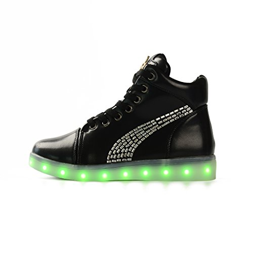 DoGeek Girls Chargeable Led Light Up Shoes Best Gifts For Girlfriends (Choose a Bigger Size)