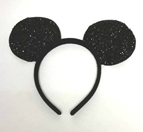SoNice Party Mouse Ear Headbands Pack of 12 … (BLACK -