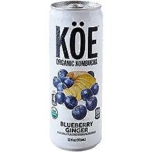 KÖE Organic Kombucha   Blueberry Ginger   Live Probiotics   12oz. Shelf Stable Cans (12 Pack)