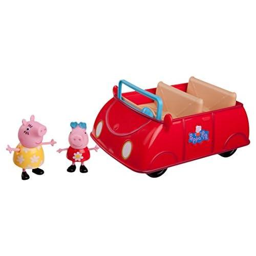 chollos oferta descuentos barato Jazwares 92605 Peppa Wutz Peppa s Coche de juguete con melodía y sonido diseño de Peppa y mamá color modelo surtido