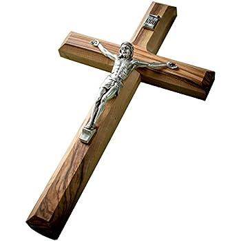 Amazon Com Earthwood Cc 19c Olive Wood Plain Crucifix