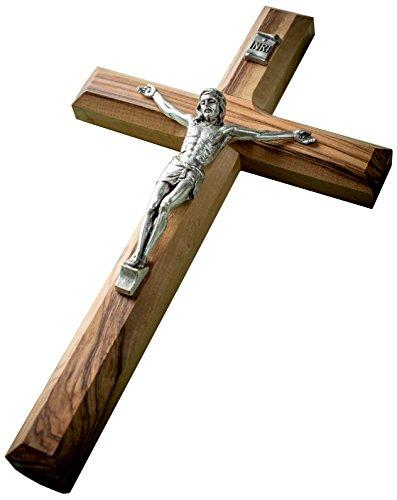 Crucifix Wall Cross - Earthwood Olive Wood Olive Wood Plain Crucifix