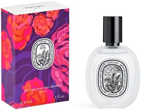 DIPTYQUE Rose Hair Mist 1oz. Valentines Limited Edition. And Eau de Rose Toilette 2ml Sample.