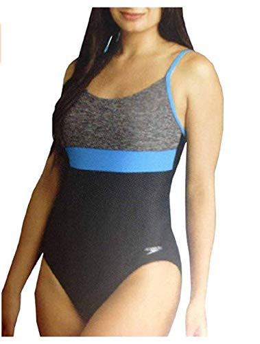 Speedo Women's Athletic Training One Piece Swimsuit Heather Grey, 6 (Speedo Pinion)