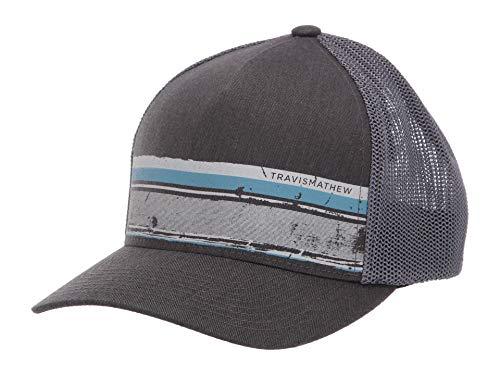 (TravisMathew Men's Painter Hat Heather Grey Pinstripe LG/XL)
