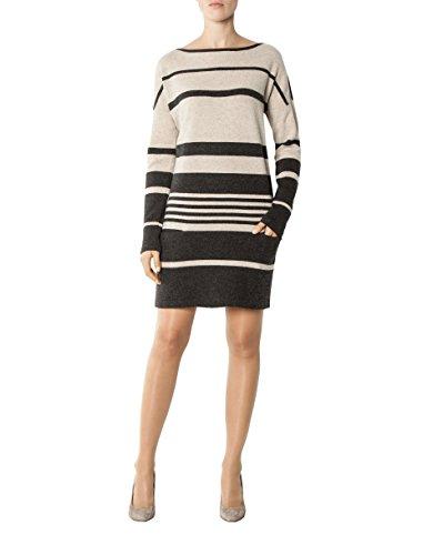 Schurwollmix Damen Beige Strickkleid Gestreift Kleid Modisches 38 Größe Farbe Laurèl awvdqEv