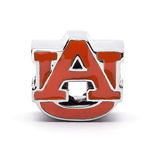 arm | Auburn University Orange Block AU Charm | Officially Licensed Auburn University Jewelry | AU Jewelry | Auburn Jewelry | AU Charms | Auburn Tigers | Stainless Steel (Auburn Tigers Womens Stainless Steel)