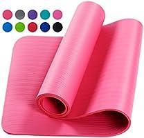 Límite-MX Tapete de Yoga Antideslizante con Material ecológico NBR Agarre de alto rendimiento, acolchado ultra denso...