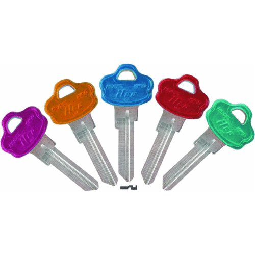 KABA ILCO KW10-PC-ASSORTED Cool Color Plastic Head Key Blank, For Kwikset Titan Locksets - Kw10 Key Blank