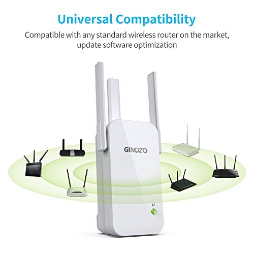 WiFi Range Extender, Ginozo R3 Wireless N300 WiFi Repeater 2.4GHz Internet Network Signal Amplifier Booster with 3 External Antennas (1 Pack) by GINOZO (Image #6)