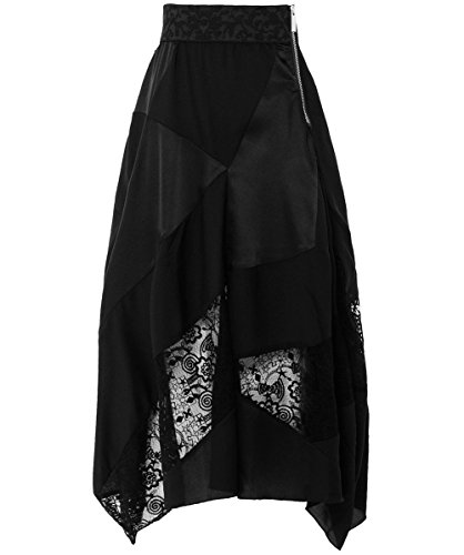 High Femmes Concept Semi-Sheer Midi Skirt Noir Noir
