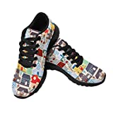 InterestPrint Women's Jogging Sneaker Casual Walking Comfort Running Shoes US12 City Pattern