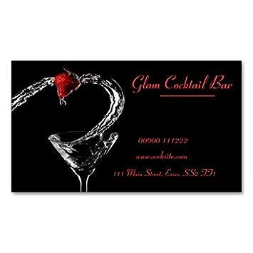 Carte De Visite Flaque En Verre Cocktail