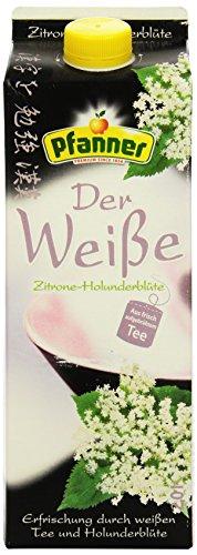 Pfanner Weißer Tee Zitrone-Holunderblüte, 2 l Packung