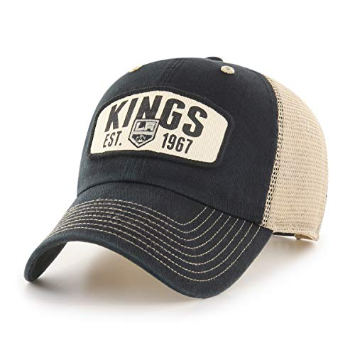OTS NHL Los Angeles Kings Male Woodford Challenger Adjustable Hat, Black, One Size