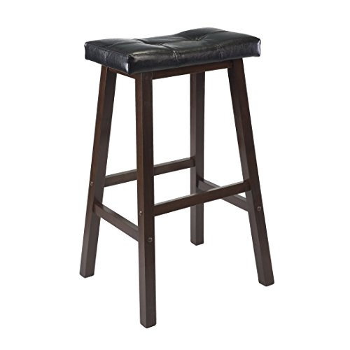 "Winsome 94069 Mona Stool, 29"", Antique Walnut"