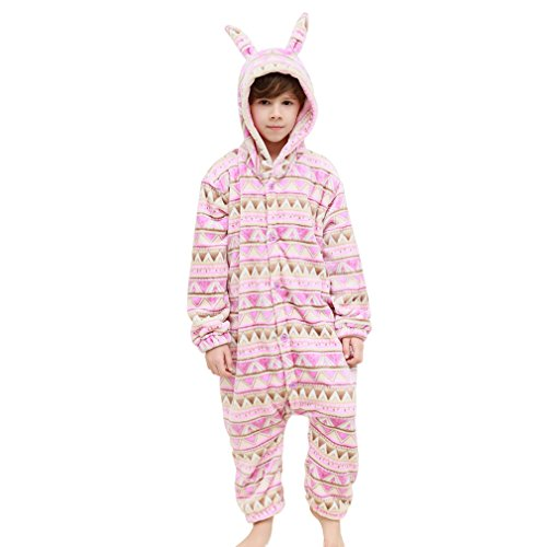[MICHLEY Winter Rompers Rabbit Style Cosplay Pajamas For Girls Boys Clearance Sale PINK-XS] (Rabbit Costume Pattern)