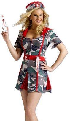 Fun World Sexy Army Nurse Party Shots Halloween Costume M/L