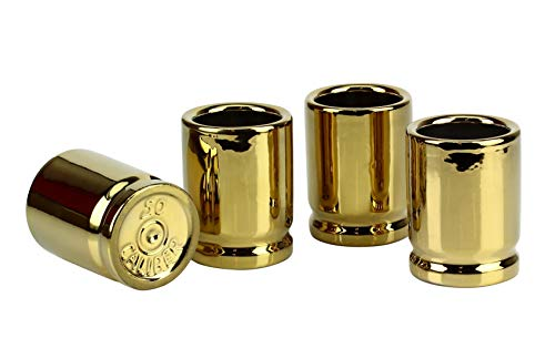 Barbuzzo 50 Caliber Shot Glass - Set of 4 Shot Glasses Shaped like Bullet Casings - Step up to the Bar, Line 'Em Up, and Take Your Best Shot - Great Addition to the Mancave - Each Shot Holds 2-Ounces by Barbuzzo (Image #11)