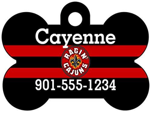 (Sun Belt Football Dog Tag Pet Id Tag Personalized w/ Name & Number (Louisiana Lafayette ULL Rajin' Cajuns))