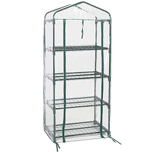 FORUP Mini Greenhouse 4 Tier, 27'' L x 19'' W x 62'' H (Green) by FORUP (Image #3)