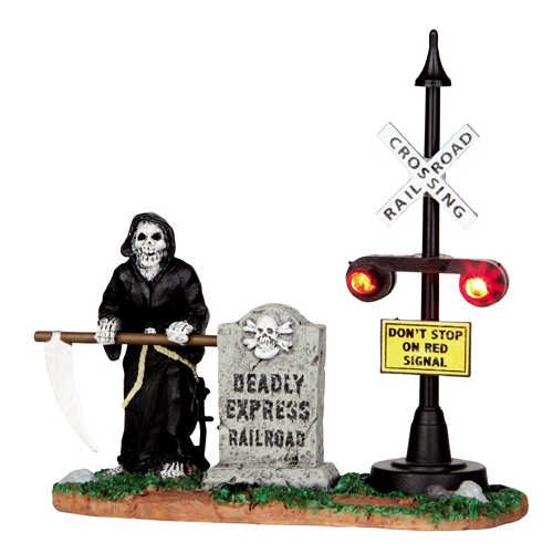 Lemax Spooky Town Grim Railway Switchman Battery Operated # 44746