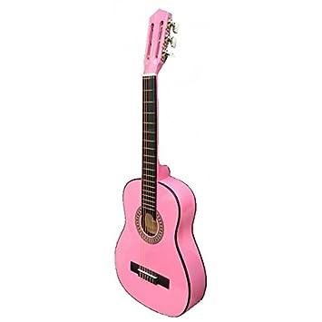 Guitarra rocio c6n (1/4) cadete 75 cms rosa: Amazon.es: Instrumentos musicales
