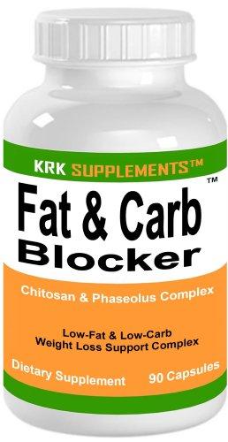 1 bouteille de graisse et Carb Blocker avec Phaseolus vulgaris (haricot blanc Extrait) Pills chitosane Extreme Diet Perte de poids 90 Capsules KRK suppléments