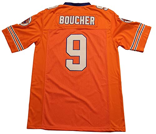 Kooy Bobby Boucher #9 The Waterboy Adam Sandler Movie Football Jersey Men Summer (Orange, X-Large)