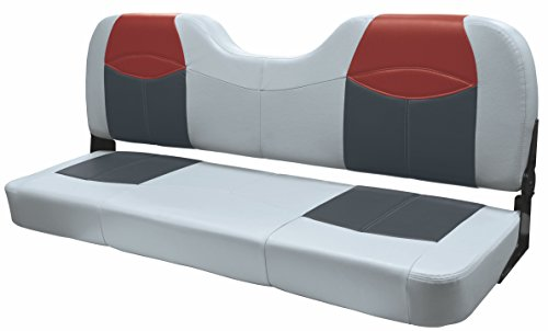 Blast-Off Tour Series Wise Bench Seating (Grey/Charcoal /Red, 48'') ()