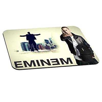 Rectangle Gaming Mouse Pad Mat DIY Pattern Mouspad Rubber Base Mousepads Waterproof Fade Resistant Eminem Not Afraid Cool Star