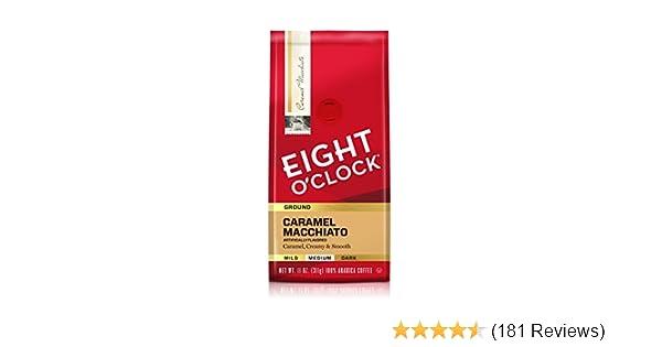 Eight O'Clock Ground Coffee, Caramel Macchiato, 11 Ounce