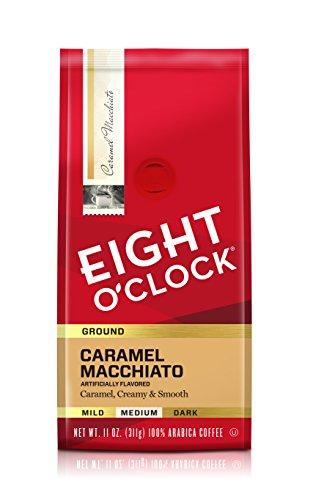 Eight O'Clock Coffee Caramel Macchiato, Medium Roast, Ground Coffee, 11 Ounce (Pack of 1), 100% Arabica, Kosher…