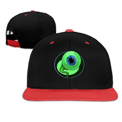 (Puyiyua Rock Punk Baseball Cap Sam The Septic Eye Unisex Trucker Hat Hip-Hop Snapback Red)