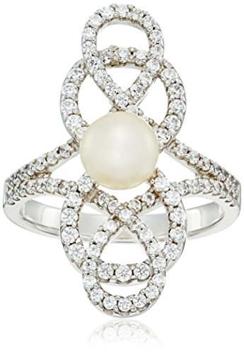 Pearl Sterling Silver Curves - 1
