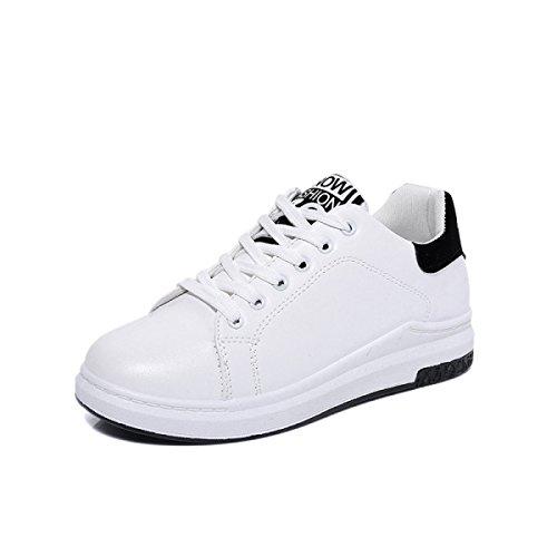 La Sra CHT Primavera Otoño Y El Invierno Para Ayudar A Los Zapatos Deportivos Blancos Bajas Corrientes Ocasionales White