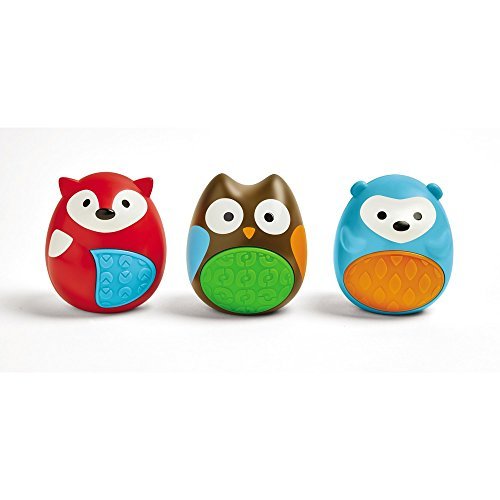 Skip Hop Explore and More Musical Egg Shaker Trio, Multi (3-piece) (Baby Toy Trio)