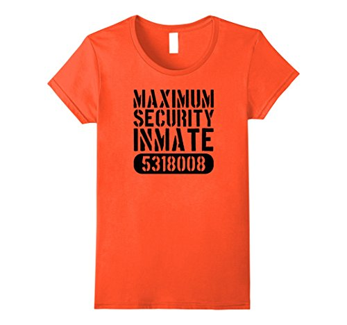 Prisoner Halloween Costume Ideas (Womens Maximum Security Prison Inmate Prisoner Halloween Costume Small Orange)