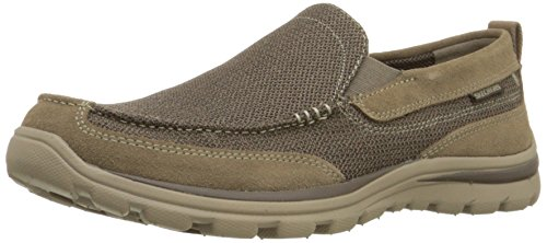 Skechers Men's Relaxed Fit Superior-Milford Loafer, Light Brown, 6.5 D-Medium