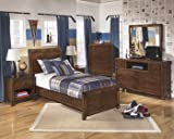Ashley Furniture Signature Design - Delburne Nightstand - 1 Drawer - Casual Youth - Medium Brown