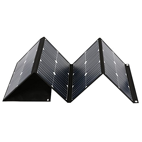 Quesvow Solar Charger 80W Portable Solar Panel Foldable High Efficiency 5V USB 18V DC Dual Output Charger for EasyFocus 500W or 300W Solar Generator,Laptop Tablet GPS iPhone iPad Other 5-18V Device by Quesvow (Image #3)