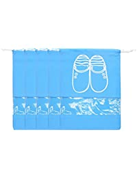 Non-woven Shoe Bags Dust-proof Drawstring with Transparent Window Travel and luggage/seasonal Shoe Storage Bags
