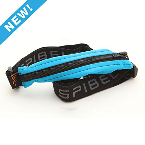 SPIbelt Diabetic Belt: Adult - No-Bounce, Discreet Belt with Hole for Insulin Pump or Other Medical Devices! (Turquoise with Black Zipper)